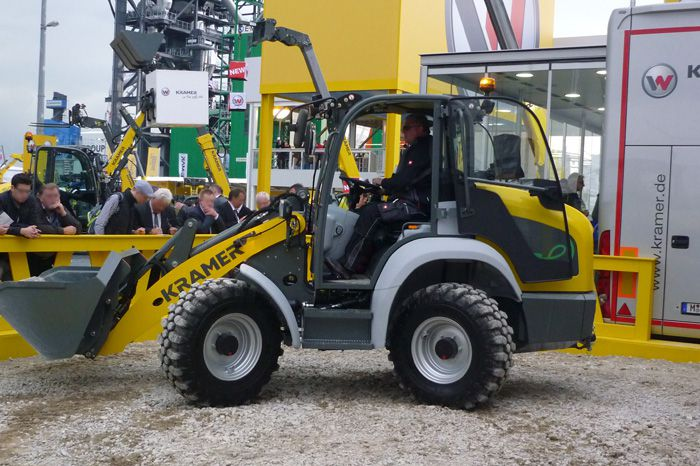 Kramer e-loader 5055e at bauma