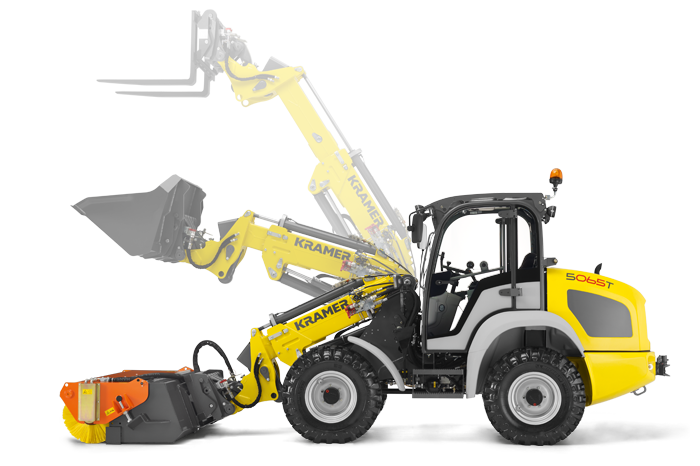 The compact telescopic wheel loader
