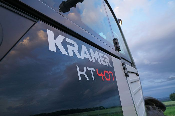 Kramer KT407 chariot télescopique autocollants machine
